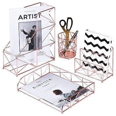 Kit organizador de escritório aramado luxo