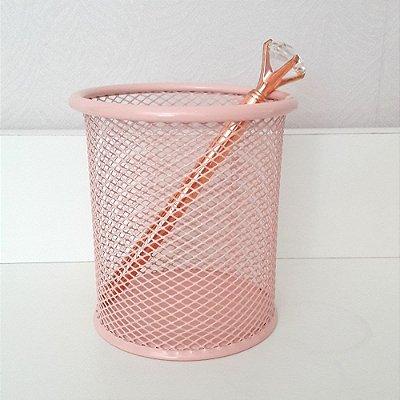 Porta lápis aramado Rosa Antigo