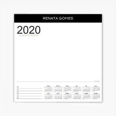 Calendário Bloco de Notas Personalizado