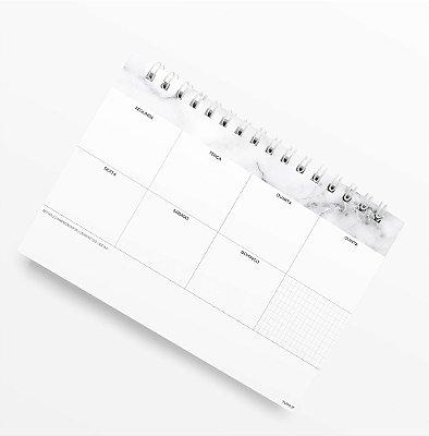 Planner de Mesa Semanal Mármore
