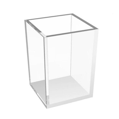 Porta lápis transparente acrílico