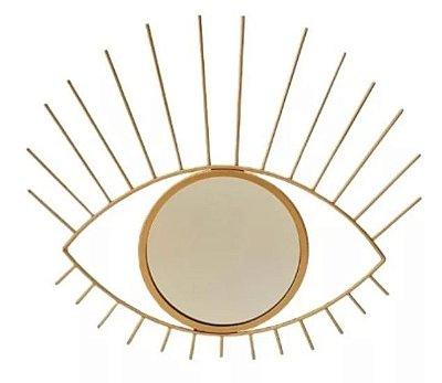Espelho decorativo olho dourado