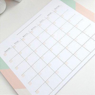 Planner Mensal Leve