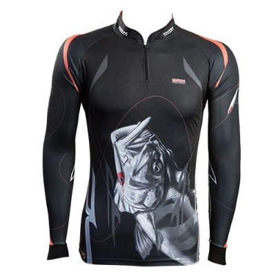 Camisa de Pesca Brk Black Monster com fpu 50+