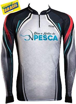 Camisa de Pesca Brk Dias e Noites de Pesca com fpu 50+