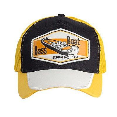 Boné de Pescaria Brk 043 - BRK Bass Boat Amarelo