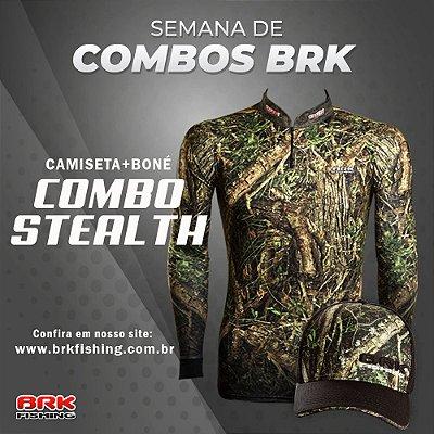 Combo 2 - Camiseta Stealth + Boné Stealth Preto