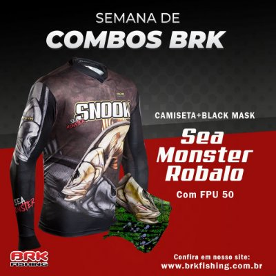 Combo 3 - Camiseta Robalo + Black Mask