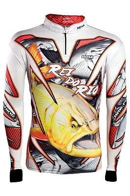 Camisa de Pesca Brk DOURADO REI DO RIO 2.0 com fps 50+