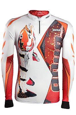 Camisa de Pesca Brk 80UP Laranja com fps 50+