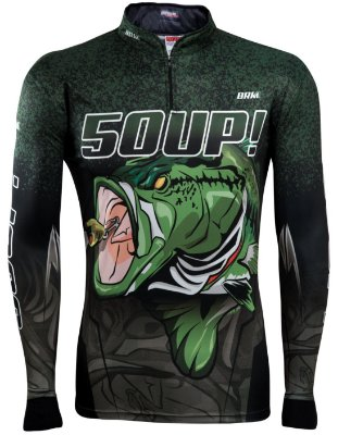 Camisa de Pesca Brk Black Bass 50UP! com fps 50+