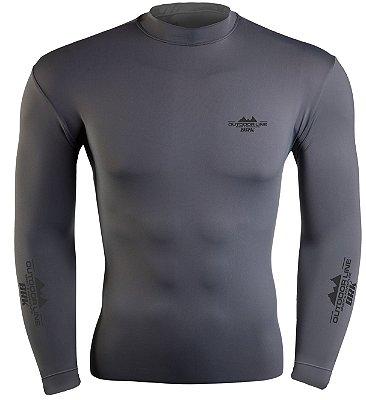 Camiseta Poliamida Outdoor Brk Cinza com FPU 50+