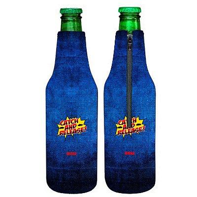 PORTA LONG NECK BRK BLUE 350ML NEOPRENE 3MM