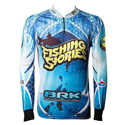 Camisa de Pesca Brk Fishing Stories com fpu 50+