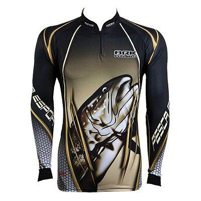 Camisa de Pesca Brk Dourado Monster com fpu 50+