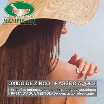 OXIDO DE ZINCO | + ASSOCIAÇÕES - PASTA D'ÁGUA MENTOLADA
