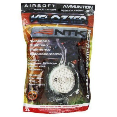 Esferas Plásticas Airsoft Velozter BBs 0.25g NTK - Branca 4000un