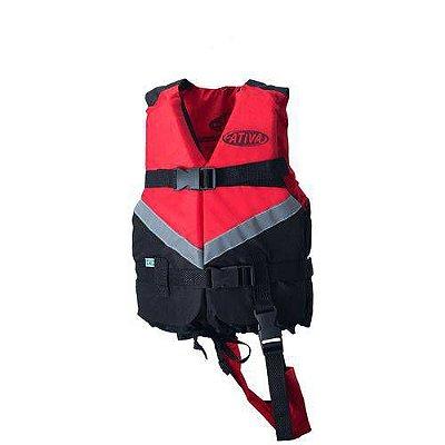 Colete Salva Vidas Infantil Ativa Canoa 2.0 30 Kg Vermelho Modelo Novo