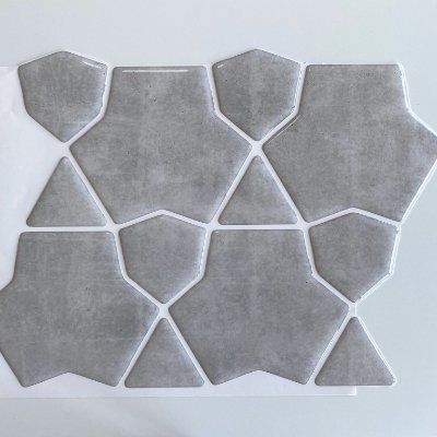 Pastilha Adesiva Resinada - Cracked Cimento Queimado