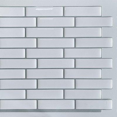 Pastilha Adesiva Resinada Bricks White