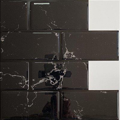 Azulejo Metrô Black Marble