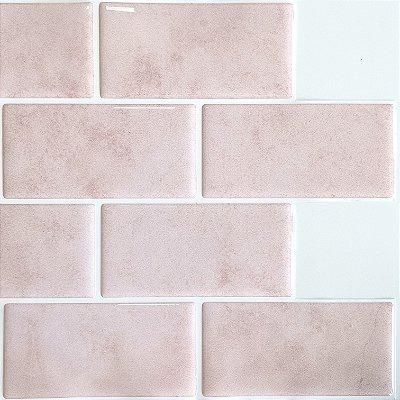 Azulejo Metrô Pink Concrete