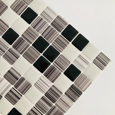 Pastilha Adesiva Resinada RISCO DE CARVÃO 28 x 28 cm