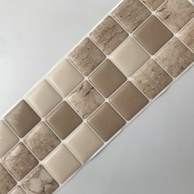 Pastilha Adesiva Resinada MÁRMORE TRAVERTINO 28 x 9 cm