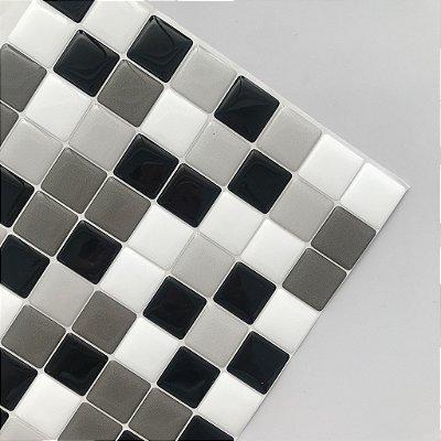 Pastilha Adesiva Resinada TONS DE CINZA 20 x 20 cm