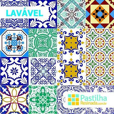 Azulejo Adesivo Velhos Tempos Kit 18 peças