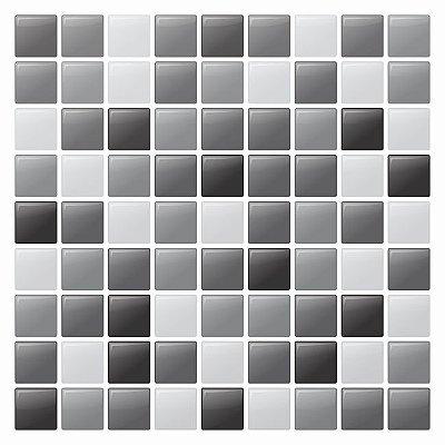 Pastilha Adesiva Resinada Black List 28 x 28 cm