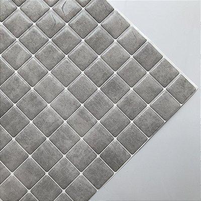 Pastilha Adesiva Resinada Cimento Queimado 20 x 20 cm