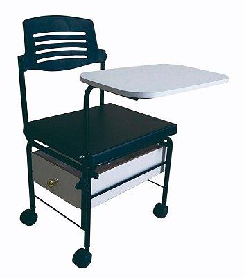 Cadeira Cirandão 1 Gaveta de Madeira Para Manicure