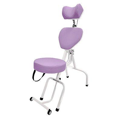 Cadeira Portátil Para Maquiagem e Sobrancelhas