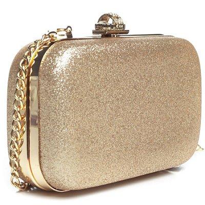 Bolsa de Festa Modacc Clutch Dourada ou Prata