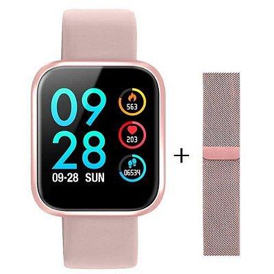 Relógio Smartwatch Inteligente P70 Tela Infinita Ios E Android - TROCA PULSEIRA
