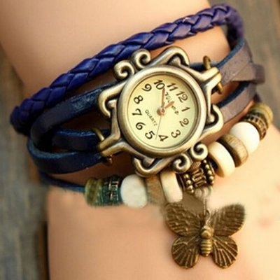 Kit 05 Relógios Femininos Vintage Em Couro Atacado