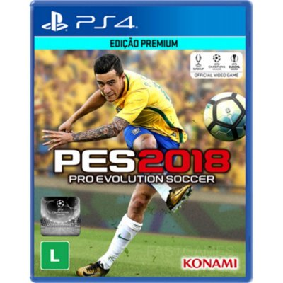PES Pro Evolution Soccer 2018 - PS4 Mídia Física Novo Lacrado