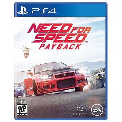 Need For Speed Payback - Ps4 Mídia Física Novo Lacrado
