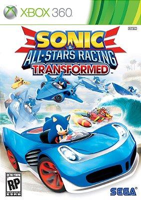 Sonic All Stars Racing Transformed - Xbox 360 - Mídia Física Novo Lacrado