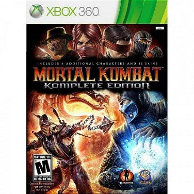 Mortal Kombat Komplete Edition - Xbox 360 Mídia Física Usado