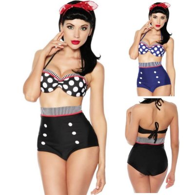 Biquíni Cintura Alta Hot Pants Short Vintage Pin Up Retrô Com Bojo Disfarça Barriga