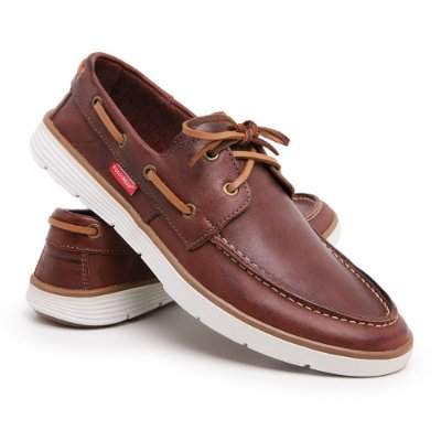 Sapato Masculino Mocassim Dockside Couro Legítimo Social Top