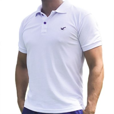 Camisa Polo Masculina Lisa Original Social Básica Esportiva - Branca e Outras Cores