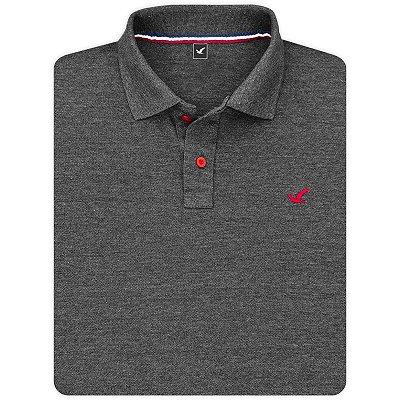Camisa Polo Masculina Lisa Original Social Básica Esportiva - Grafite e Outras Cores