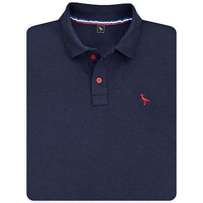 Camisa Polo Masculina Lisa Original Social Básica Esportiva - Azul Marinho e Outras Cores