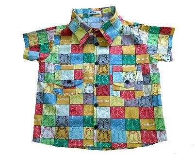 Camisa Garfield Colorida