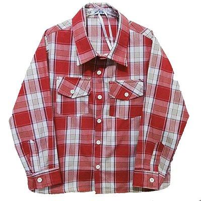 Camisa Xadrez Manga Longa Red