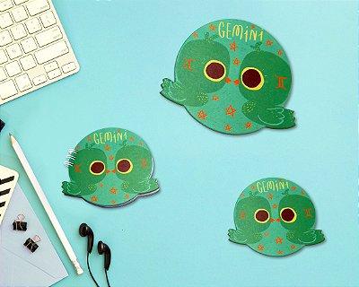GÊMEOS - mouse pad + bloco + porta-copos