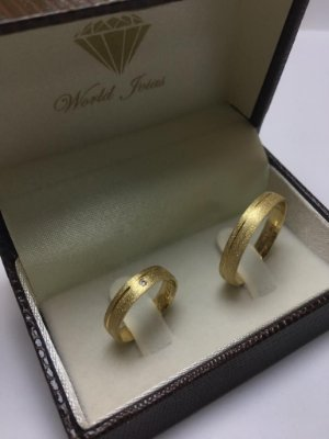 Alianças Casamento Ouro 18k 750 Polidas  5mm 9g o Par.